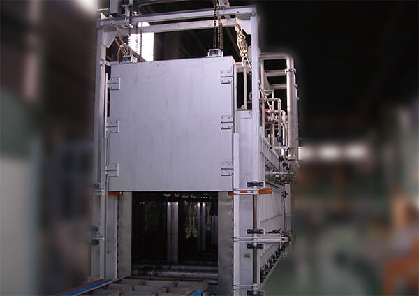 RT式ローラハース型アルミ棒材熱処理炉