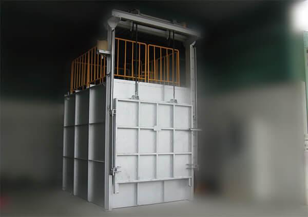 電熱式熱風循環式ポット乾燥炉